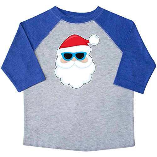 inktastic Santa Head With Sunglasses Toddler T-Shirt 2T Heather and - Sunglasses 4034