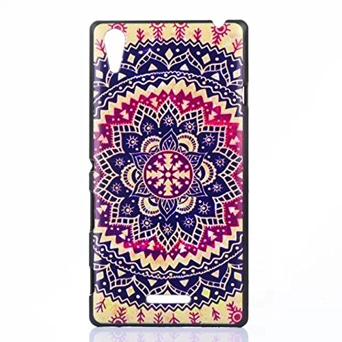 Fashion Kaleidoscope Hard Plastic Cover Case For Sony Xperia T3 M50W