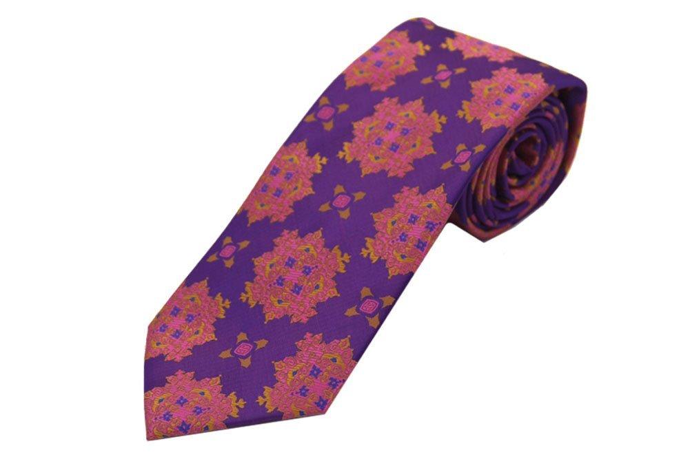Imani Uomo Big Knot Ties with hanky - Lavender & Pink by Imani Uomo