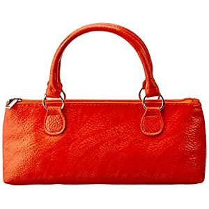 Primeware Serpentes Wine Clutch, Orange