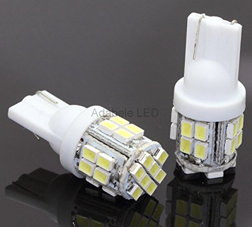 2pcs Top Quality Car Light Bulbs 194 5k 1206 Bright White 24 SMD LED Car Bulb Miniature Wedge Base W5W, T10, 147, 152, 158, 159, 168, 184, 193, 194, 2825 L29 ()
