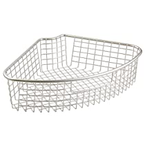 InterDesign Forma Lazy Susan Storage Basket with Handle for Kitc