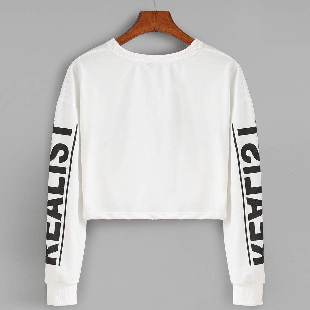 Cropped Hoodies for Women,Womens Long Sleeve Casual Letter Print Sweatshirt Crop Top Hoodies
