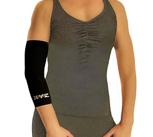 Full Elbow Support (Elbow Copper Compression Sleeve- Muscle Recovery/Joint Support- Single Sleeve (sm))