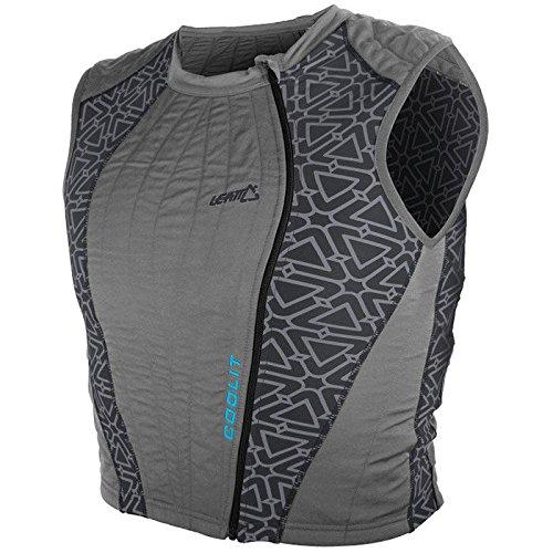 Leatt Coolit Evaporative Cooling Vest Men's Undergarment Street Racing Motorcycle Body Armor - Grey / 2X-Large