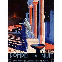 TRAVEL POMPEII ITALY ROMAN STATUE VESUVIUS VOLCANO TEMPLE RUIN POSTER BB7607B