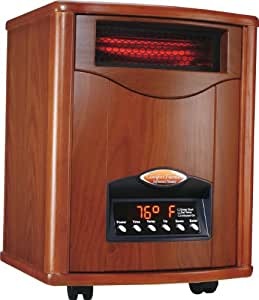 Comfort Furnace Quartz Infrared Heater Tuscan Walnut