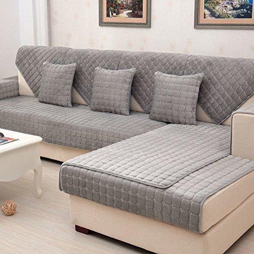 Amazon.com: YANGYAYA Plush Cushioning,Anti-Slip Solid Color ...