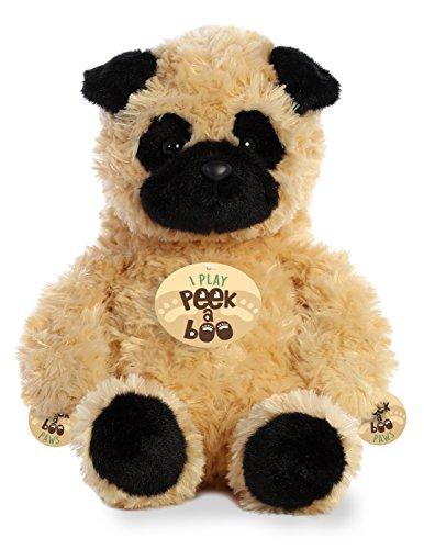 Aurora Peek A Boo- Pug Plush, Brown
