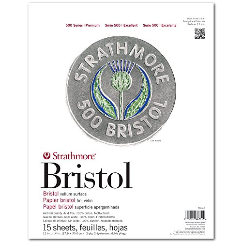 strathmore-st580-62-11-in-x-14-in-2-ply-vellum-surface-500-series-tape-bound-bristol-paper-15-sheets