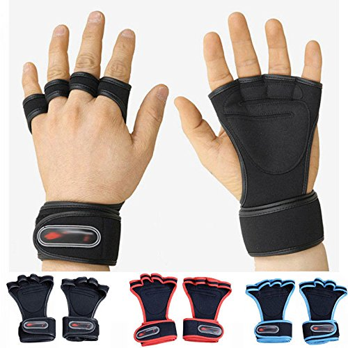 WALLER PAA Fitness Gloves Weight Lifting Gym Workout Training Wrist Wrap Strap Men / Women