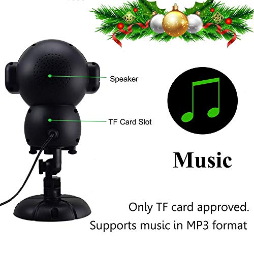 UPODA Christmas LED Snowfall Halloween Waterproof with Remote Control Timer and Music Player Anime Snow Light Projector for Outdoor Wedding Xmas Holiday Party Decorations by UPODA (Image #3)