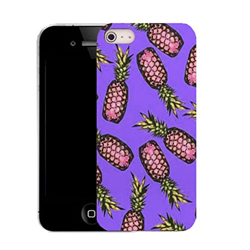 Mobile Case Mate IPhone 5 clip on Silicone Coque couverture case cover Pare-chocs + STYLET - PINEAPPLE BUNCH pattern (SILICON)