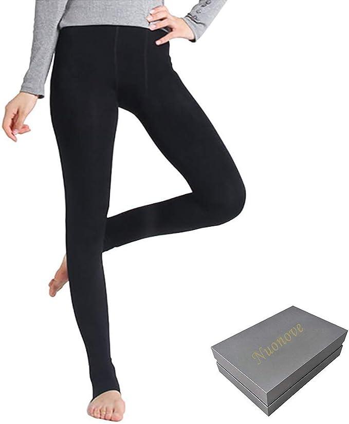 2 Stk Damen Thermo Leggings Super Warm und Kuschelig schwarz Top Qualität