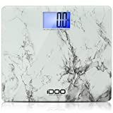 Large Digital Bathroom Scale, iDOO Heavy Duty Precision Ultra Wide Oversized Digital Bathroom Weight Scale Big Platform with Extra Large Backlit LCD Display 440lb