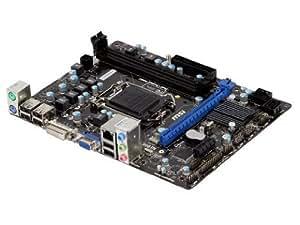 MSI Intel H61 LGA 1155 DDR3 USB 2.0 Micro ATX Motherboard (H61M-P31/W8)