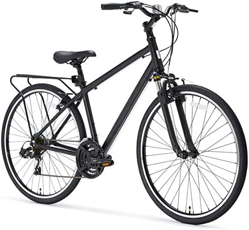 sixthreezero Pave n Trail Men s 21-Speed Hybrid Road Bicycle, Matte Black 26 Wheels 18 Frame, 17inch One Size