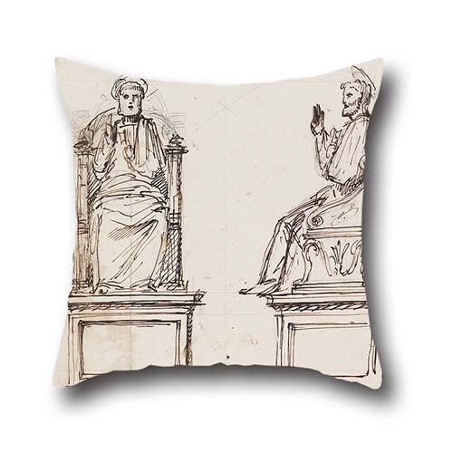 Oil Painting Luigi Vanvitelli - Design For A Marble Throne For The Statue Of St. Peter, St. Peter's, Rome Cushion Covers 20 X 20 Inches / 50 By 50 Cm For Boy Friend,festival,deck Chair,kids Room,couc