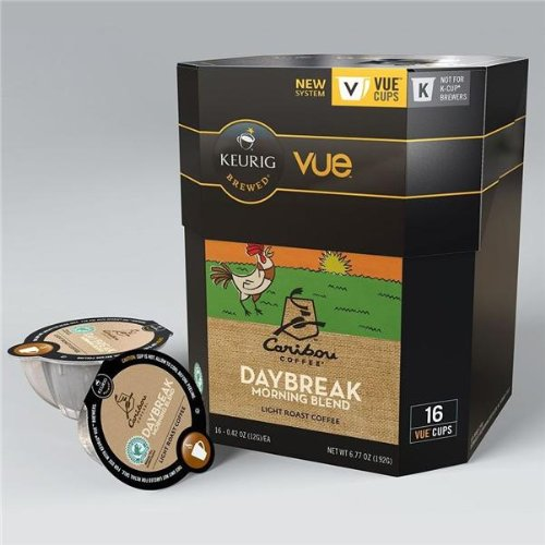 16 Include - Caribou Daybreak Morning Blend Vue Cup Coffee For Keurig Vue Brewers
