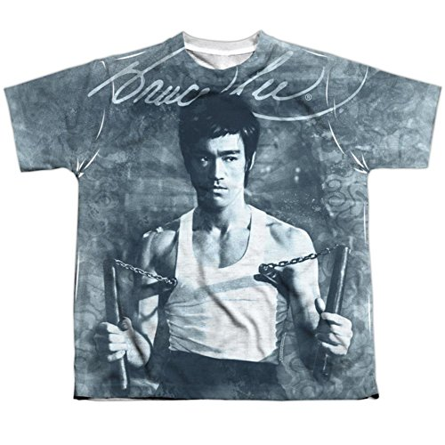 Youth: Bruce Lee- Nunchucks Kids T-Shirt Size YS