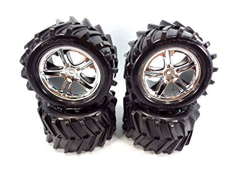 Traxxas Tmaxx 2.5 Tires and Wheels for 14MM Hex Hubs ()