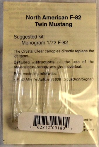 (Squadron Products SQ9180 F-82 Twin Mustang Vacuform Canopy)