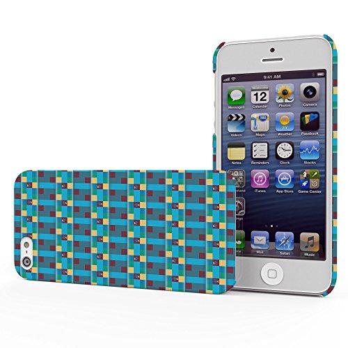 Koveru Back Cover Case for Apple iPhone 5S - Checks Ethy