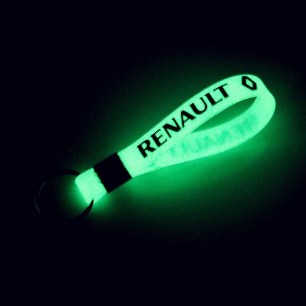 Color Name : For Fiat Abarth Nuovo modello di Luminous silicone anello chiave di Keychain Car
