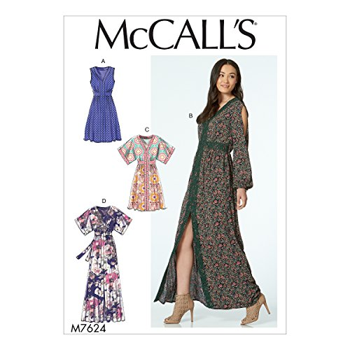 - McCall's Patterns M7624E50 Misses' Banded Gathered Dresses