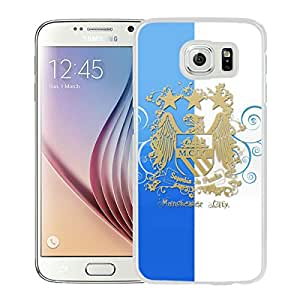 Popular Custom Designed Cover Case For Samsung Galaxy S6 With Manchester City White Phone Case 2