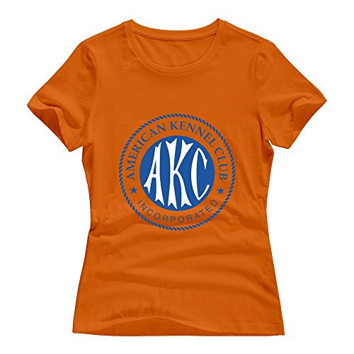 T-shirt Kennel - Orange Roundneck American Kennel Club T-shirts For Lady Size XL
