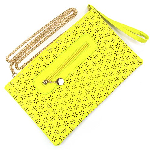 Bridal Wedding Accessories.co.uk, Borsa baguette donna Giallo giallo