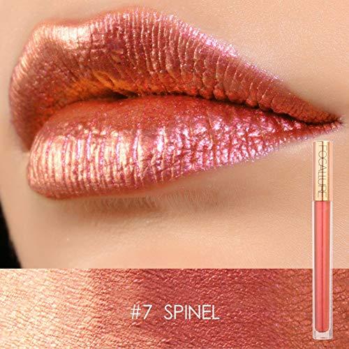 Focallure Lipstick Metallic Sparkly Makeup Glossier Glitter Lip Gloss Colorstay Liquid Lipgloss Spinel Rose