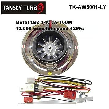 TK-AW5001-LY - Kit de entrada de filtro de aire turbocompresor eléctrico para todos los coches (ventilador de hierro): Amazon.es: Coche y moto