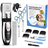 OMORC Dog Clippers, Cordless Pet Clippers Low Noise Dog Hair Clippers Rechargeable Dog Grooming Clippers Pet Grooming Kit 12Pcs Dog Shaver with 4 Comb, Quiet Electric Cat Shears for All Pets
