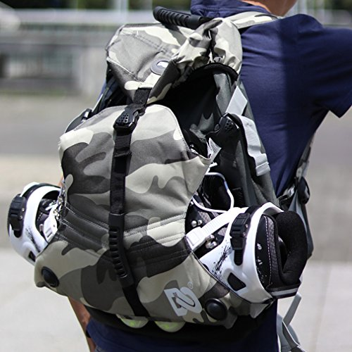 Denuoniss Professional Inline Skates Travel Backpack (#16 Msize fit below (Roll Skate Backpack)