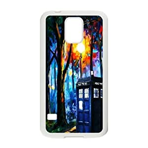 Doctor Who Series, Samsung Galaxy S5 Cases, BBC Doctor Who The TARDIS Police Box Abstract Cases For Samsung Galaxy S5 [White]