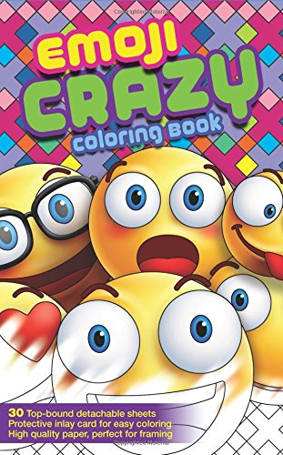 Emoji Crazy Coloring Book 30 Cute Fun Pages: For Adults, Teens and Kids Great Party Gift (Travel Size) (Officially Licensed Emoji Coloring Book Series) (Coloring Book (Toddlers Halloween Art Ideas)