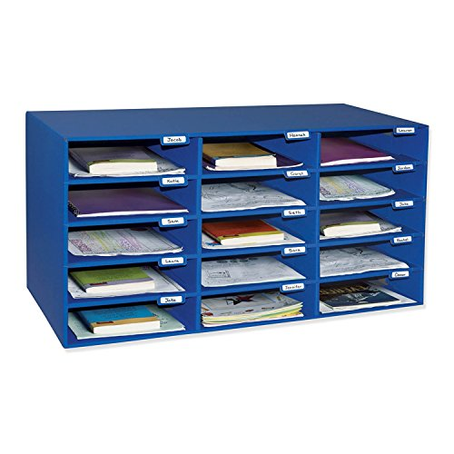 Superbe Classroom Keepers 15 Slot Mailbox, Blue (001308)