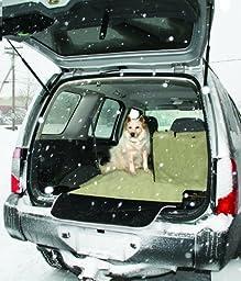 Kurgo Waterproof Car and SUV Cargo Cape Liner / Cover for Dogs, Hampton Sand Khaki