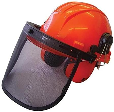 Casco rojo para motosierra HP-104, de The Handy