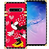 DISNEY COLLECTION Red Minnie Mouse Kiss Phone Case for Samsung Galaxy S10+ (2019) [6.4in] Shockproof and Protective Phone Cover with Classical Style