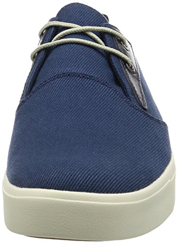 Timberland Mens Amherst Plain Toe Canvas Oxford Black Iris Cotton Canvas