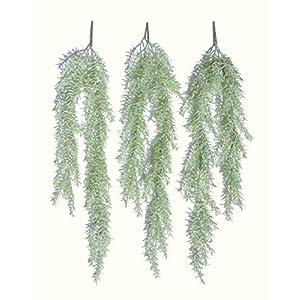 """3 x 28"""" Sprengeri Ivies, Artificial Hanging Plants 45"""