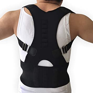 c5e32322c4 Posture Corrector Orthopedic Back Support Belt Magnetic Therapy Corset  Adjustable Brace Breathable for Man and Women