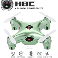 WLtoys Remote Controlled Rechargeable Mini Set High Wifi Quadcopter with Wifi HD Camera(Green)