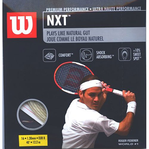 Wilson NXT 16 Tennis Racquet String (16 Gauge, 1.30mm)