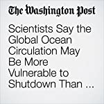 Scientists Say the Global Ocean Circulation May Be More Vulnerable to Shutdown Than We Thought | Chelsea Harvey