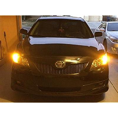 Alla Lighting Super Bright 7440 7443 LED Turn Signal Light Bulbs 2000 Lumens 7440 7442 7444 7443 LED Bulb 3020 30-SMD 7440 7443 LED Lights Bulbs Amber Yellow Blinker Lights Replacement for Cars Trucks: Automotive
