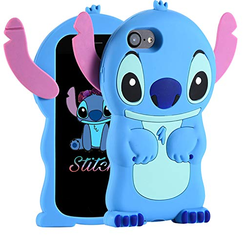 Cases for iPhone 8/iPhone 7/iPhone 6S/6 Case, Lilo Stitch Cute 3D Cartoon Unique Soft Silicone Animal Rubber Shockproof Protector Boys Kids Girls Gifts Cover Housing Skin For iPhone 8/7/6S/6 4.7